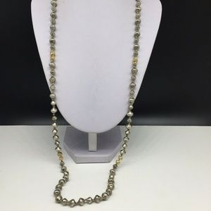 Stella & Dot Silver Gold Tone Beaded Necklace